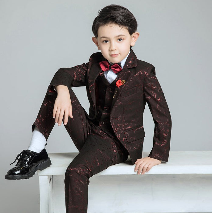 Formal Suit | Boys Suits For Prom/Wedding |  Boy Formal Classic Costume 6 PCs