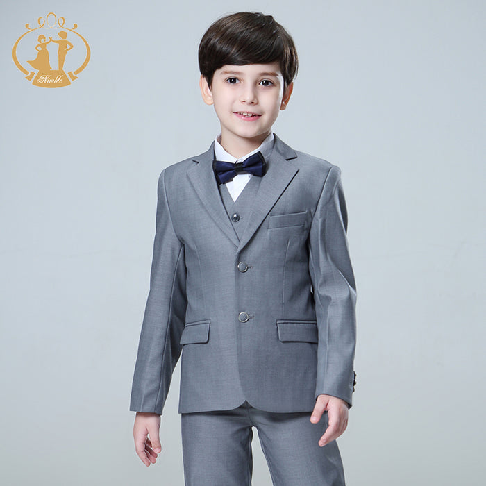 Nimble 5pcs/Set Boys Suits For Weddings Kids Prom Suits Wedding Suits