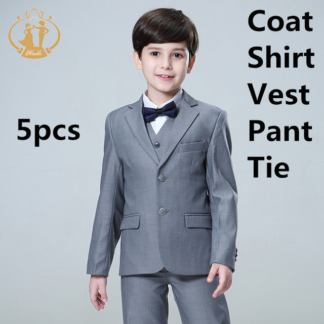 25e936397824 Nimble 5pcs Set Boys Suits For Weddings Kids Prom Suits Wedding Suits