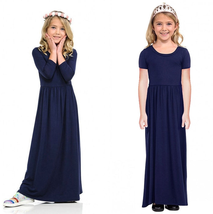 Princess Bohemian Spring Summer Girls Maxi Dresses