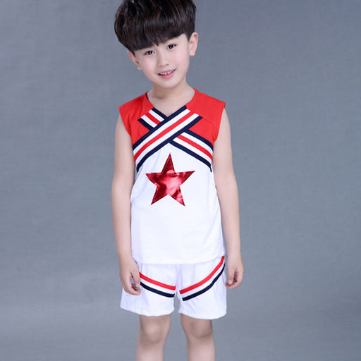 Retail Kids Performance Costumes Suits Children Cheerleading Uniforms Dancewear Boys Girls Students Aerobics Cheerleader Costume - KiddyLanes