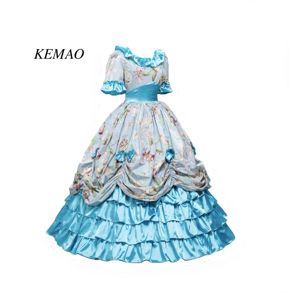 ef1c45cf75 Victorian Southern Belle Civil War Ball Gown Floral Dress Theatre Reenactment  Costumes - KiddyLanes