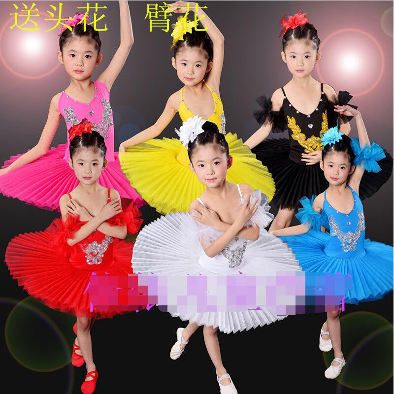 5dee58fb6947 Colors Sequined Kids White Swan Lake Pancake Professional Ballet Tutu dress  Dancewear Girls Ballroom Dancing Costume