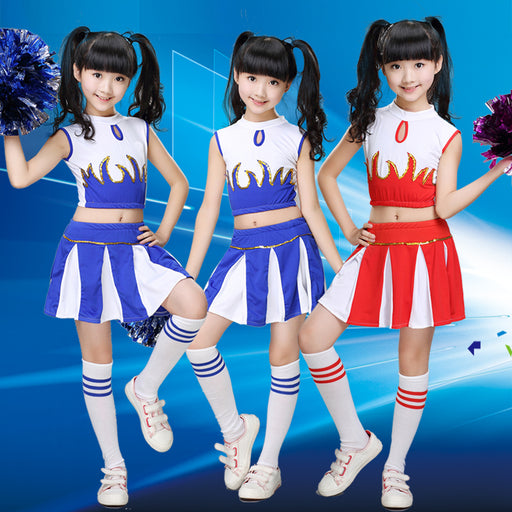 Girl Children Academic Dress School Uniforms Set Kid Girls Student Jazz Costumes Boy Competition Suit Girl Cheerleader Suits - KiddyLanes
