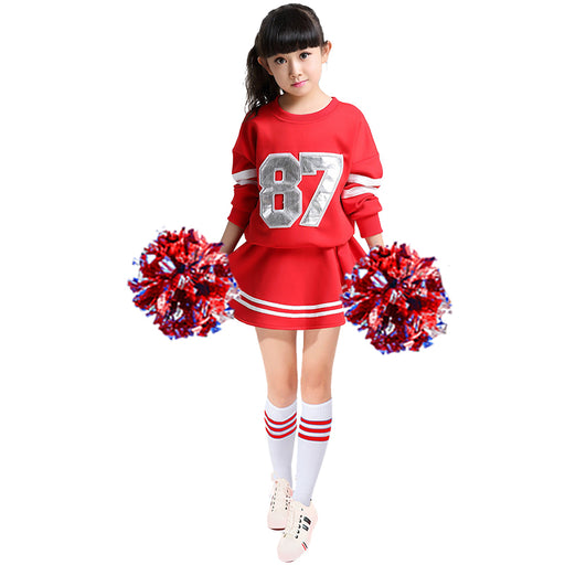 Cheerleader Costume cheerleading suit Children Cheerleaders Dress Group Students Long Sleeve  Baby Cheerleading Uniform - KiddyLanes