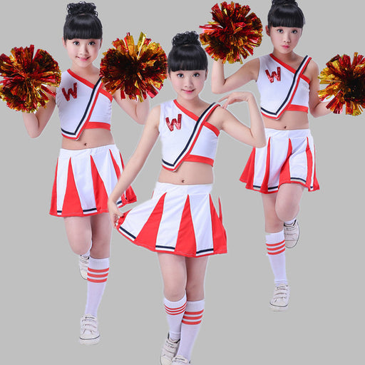 Children Dance Costumes Children Cheerleader Costumes Girls Cheerleading Gymnastics Dress for Competition - KiddyLanes