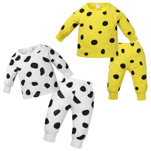 Unisex Casual Clothing | Boy Girl Polka Dot 2 Piece Pajama Suit