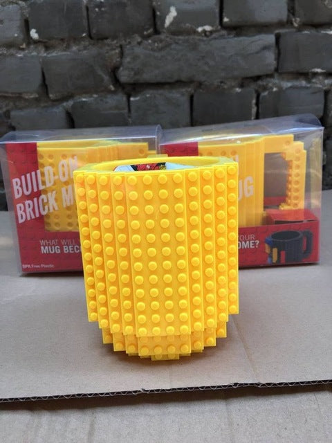 Build-On Brick Lego Mug Type Building Blocks Coffee Cup DIY Block Puzzle Mug Christmas Gift ISABEL MUG - KiddyLanes