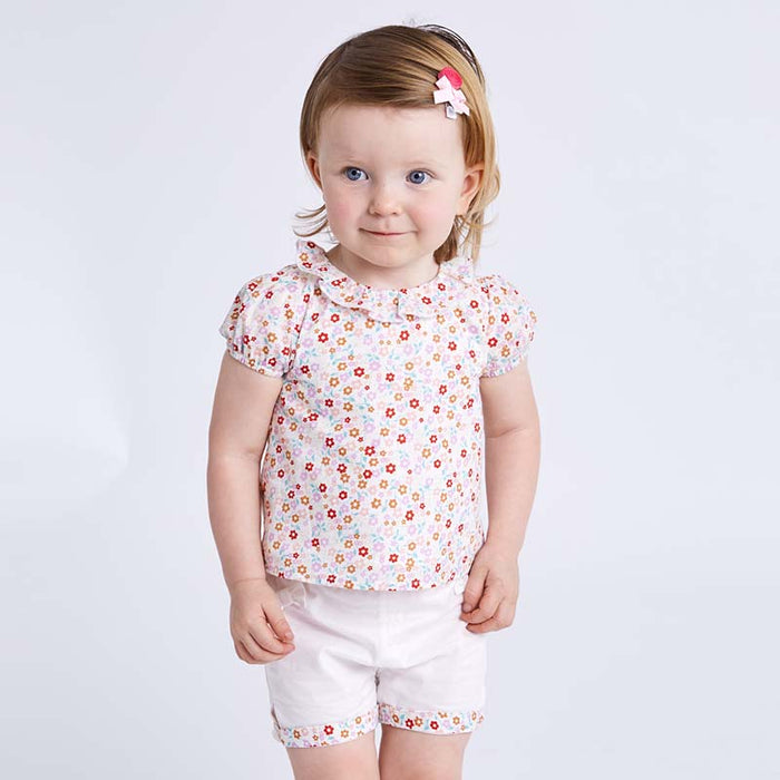 Summer baby clothing sets children lovely floral suits