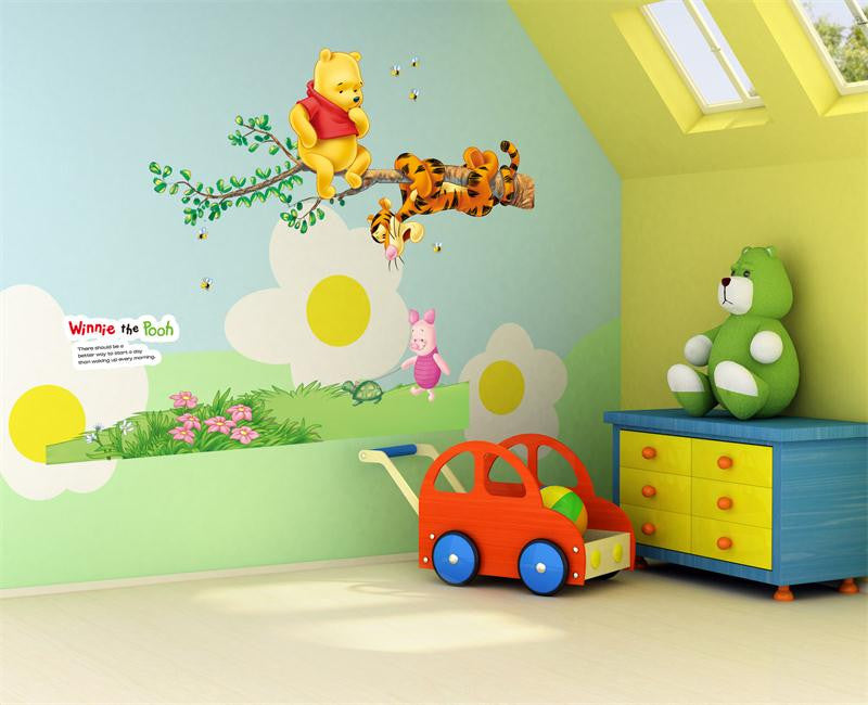 Animals Zoo Cartoon Winnie Pooh HOME Bedroom Decals Wall Stickers For Kids  Rooms Wall Decals Nursery
