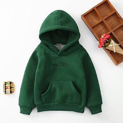 Unisex Winter Casuals | Kids Letter Print Sweatshirts & Hoodies