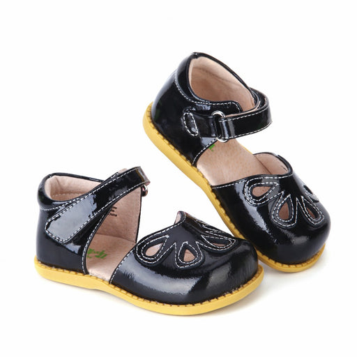 Unisex Black Leather Sandals Closed Toes