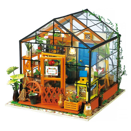 Robud DIY Miniature Kathy Greenhouse Doll House Model Building Kits Dollhouse Creative Toys Hobby Gift for Children Adult DG104