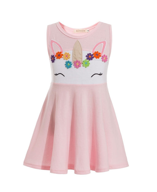 Masha & Bear Pattern Girls Dress