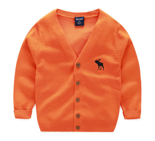 Unisex Cardigan Sweaters For Boys Girls Autumn Winter
