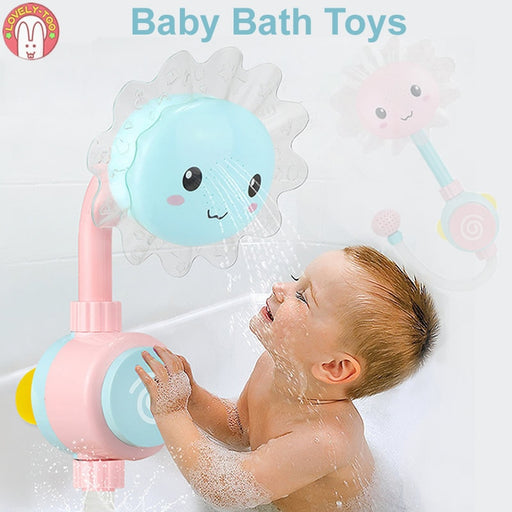 Baby Bath Toys Bathtub Showers  | Folding Spray Faucet Water Toys