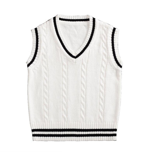 Uniform Vest Knitted Sweater Buys & Girls