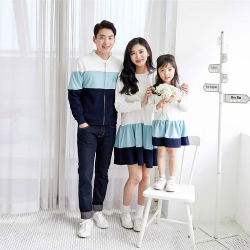 Autumn Winter Family Matching Clothes Outfits Mother Daughter Dad Family Look Outwear
