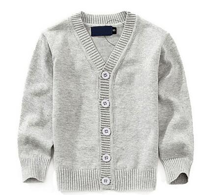 Kids Cardigan Single-breasted Jacket Kids School