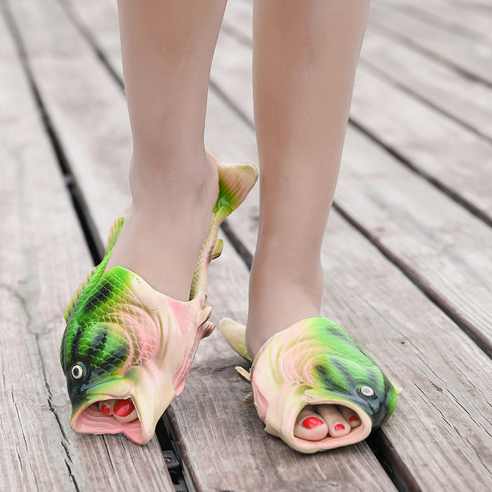 Summer Girls Slipper Fish molded