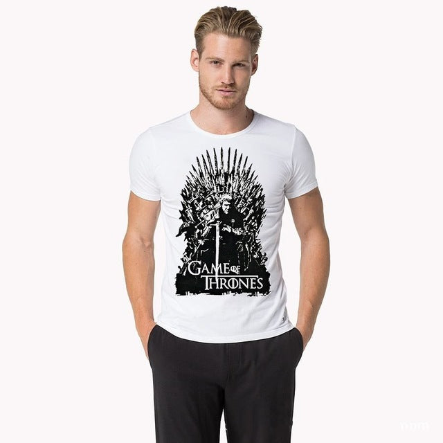 Game Of Thrones Vintage Tees | Men T Shirt TV Series House Stark Targaryen