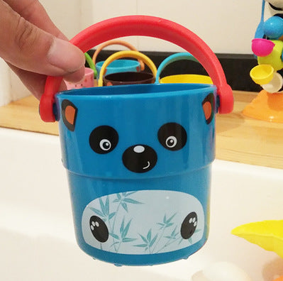 Stacking Shower Small Bucket  Baby Bath Toys