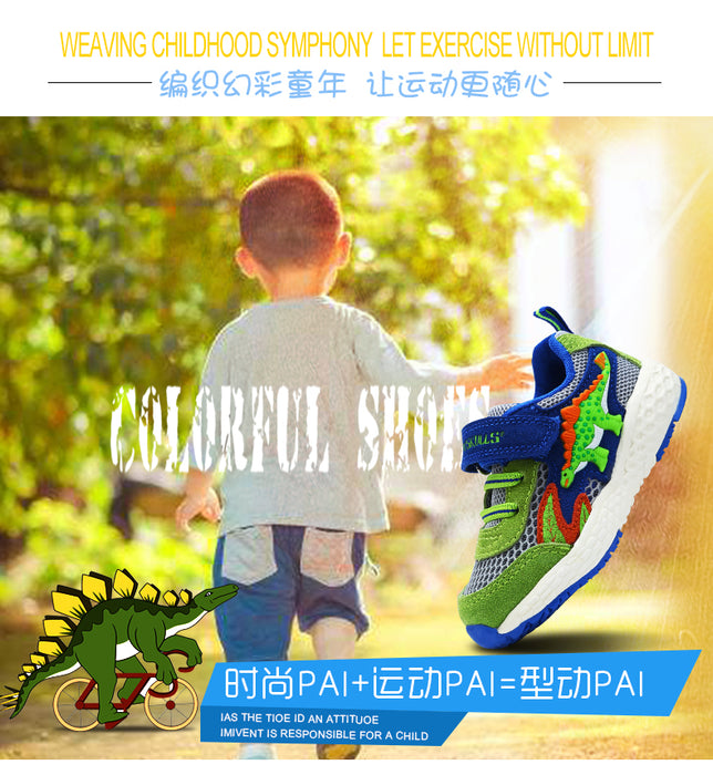 Dinoskulls Dinosaur Shoes Hollow Mesh Breathable Soft Sole Toddler Shoes