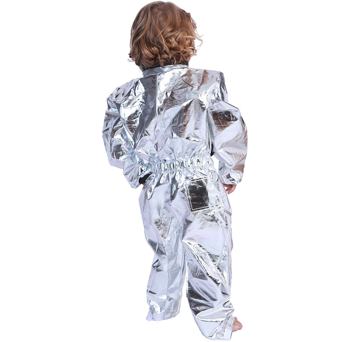 5-7 Years Boys Costume for Kids Alien Astronaut Cosplay Spaceman Children Fancy Clothes Hip Hop Stage Costume Halloween Outfit