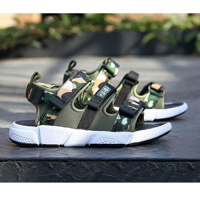 Camouflage Sandals for Small Kids or Teenagers Casual Sports Sandals High Quality Gladiator Beach Shoes