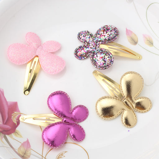Baby Girls Hair Accessories Sequins Heart Butterfly Barrettes Glitter Stars BB Clip Hair Clips Kids Children Hairpin Wholesale - KiddyLanes