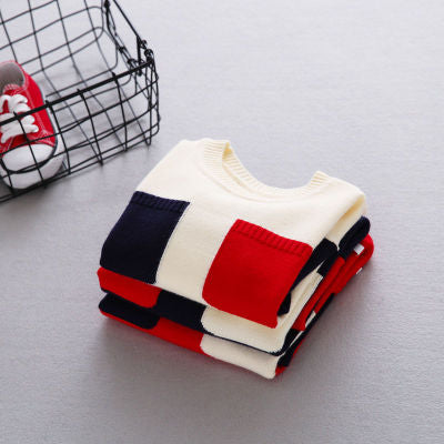 Cool Colors Double-Pocket Children Sweater  for Boys