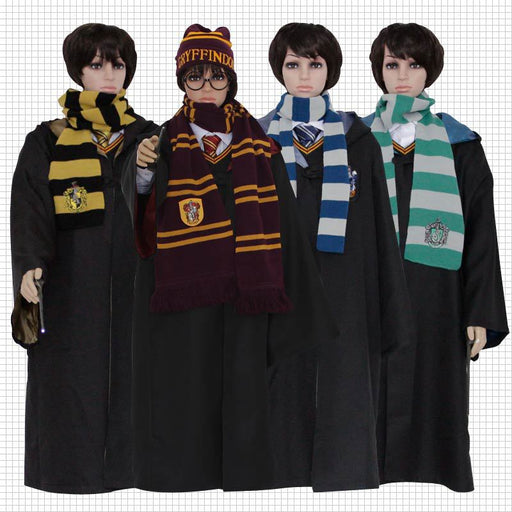 Halloween Harry Potter Cosplay Costume Gryffindor Slytherin Ravenclaw Robes Cloaks For Adults and Kids