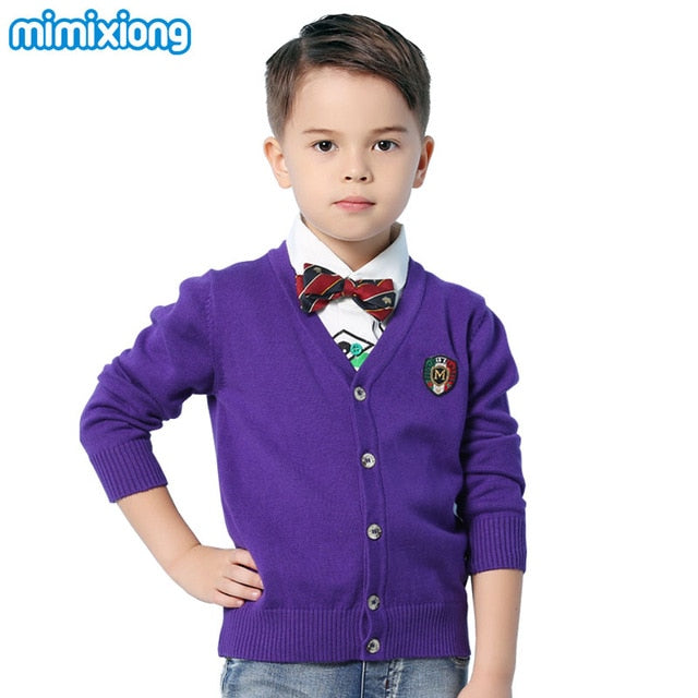 Boys Fashion V-Neck Cardigans