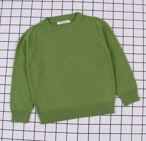 Boys & Girls Autumn Winter Knitted Single Shade Sweaters
