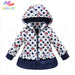 Belababy Girls Winter Coat Children Cute Polka Dot Hooded Down Jacket Kids Girl Warm Outwear Baby Girls Fashion Cartoon Clothes - KiddyLanes