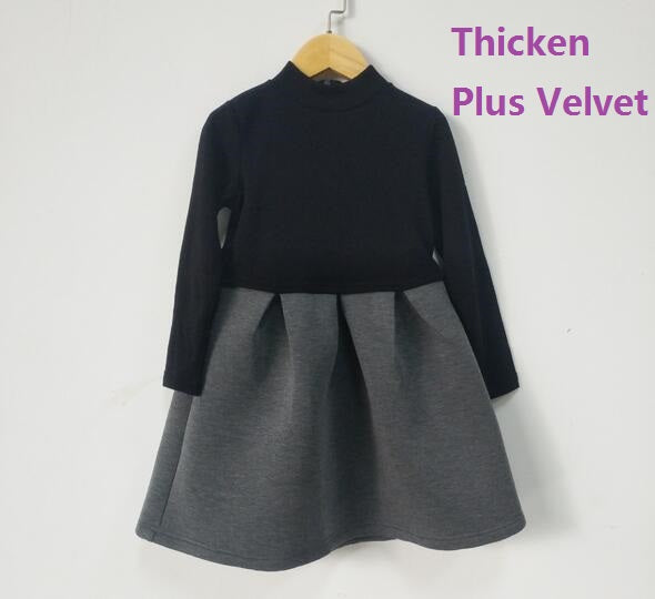 Autumn Winter Brand Baby Girl Dress Long Sleeved Party Casuals