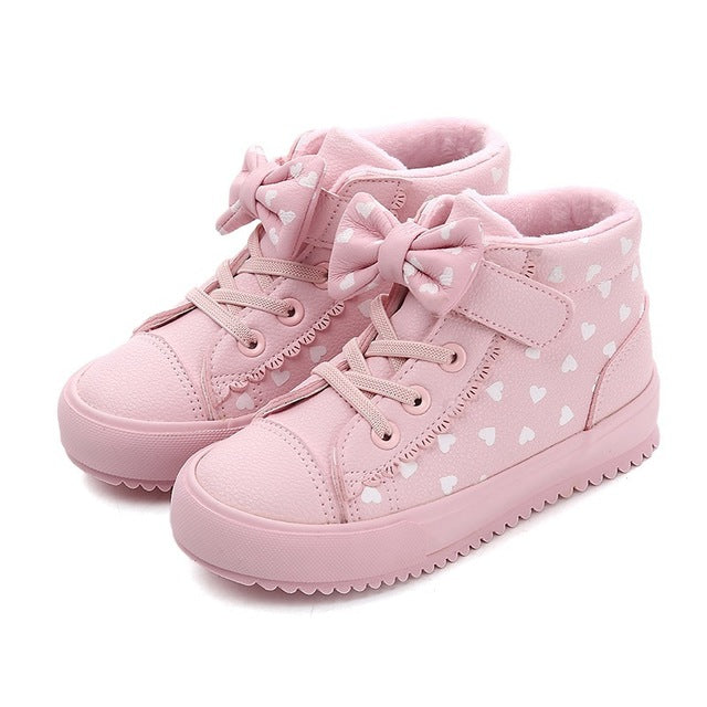 Winter New Pattern Girl Cotton-padded Shoes
