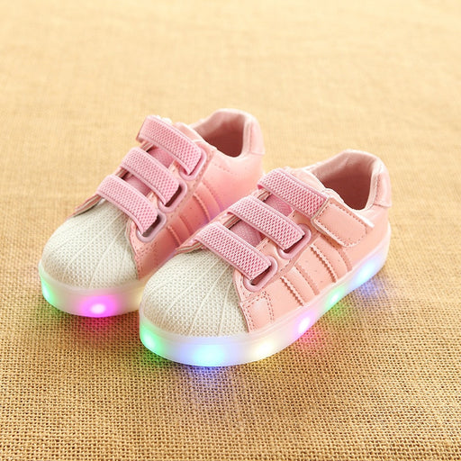 Breathable All Season Unisex LED Lighted Kids Sneakers Shoes