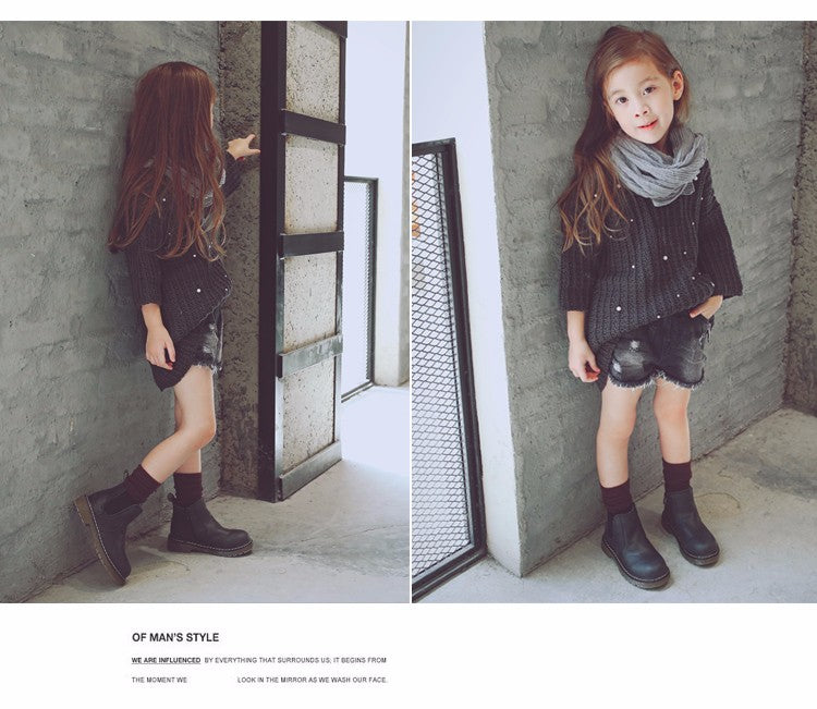 girls boots leather