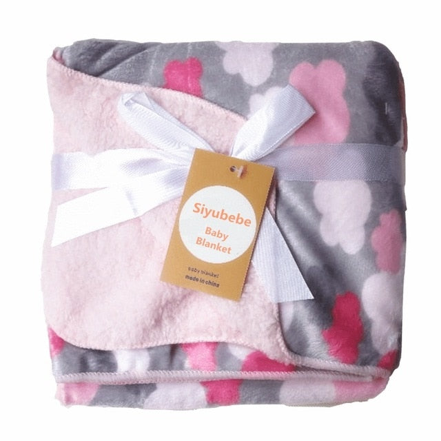 Winter Baby Blanket Thermal Coral Fleece Blanket Infant Bebe Swaddle Nap Receiving Stroller Wrap For Kids Baby Bedding Blankets
