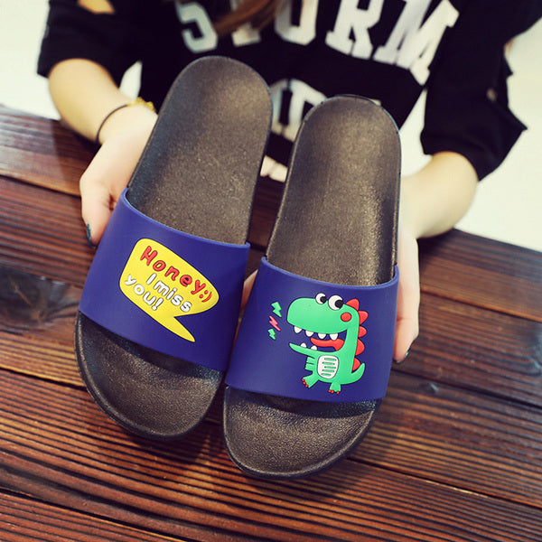 Cute Digging machine slippers boys girls beach slippers