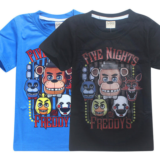 Summer Children's Clothes Cartoon T-Shirts Five Nights At Freddy's  Boys Girls Clothing Kids T Shirt 5 Freddys Tops 3-12Y