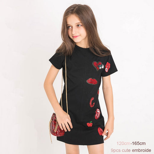 Girls Party Wear Casuals | Long Sporty Fashion T-Shirt Summer Dress