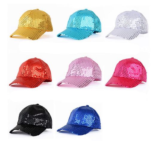 Dance Hats Boys Girls Shiny Hats Stage Performance Unisex Glitter