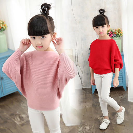 Autumn  Winter Girls Knitted Sweaters | Solid Pullover Sweaters Girls | Baby Girls