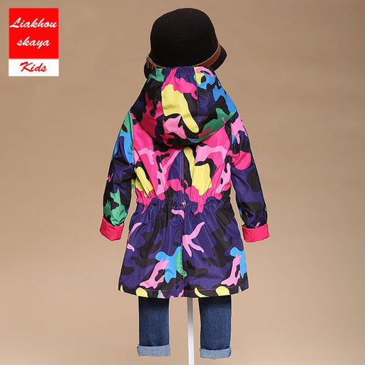 Girl Kids Windbreaker Outerwear Waterproof Trench Coat Jacket