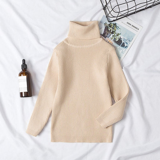 Unisex Winter Casuals | Boy Girl Knitted Turtleneck Sweaters
