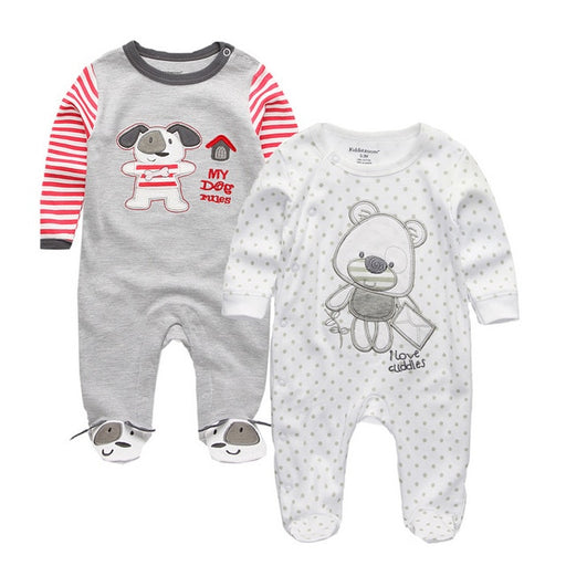 Newborn Unisex Winter Casuals | Boy Girl Footed Rompers