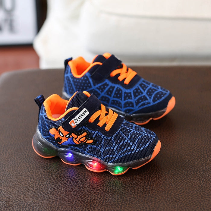 LED Light Unisex Sneakers | Kids Sports Shoes | Spider-man Sneakers for Boys and Girls