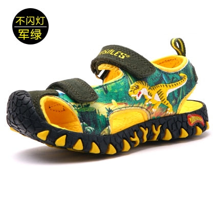 Dinosaur Sandals Boys Closed Toe Summer Nouveau Sandals Fashion Breath Kid Anti-Slip Garcon Leisure Sneakers